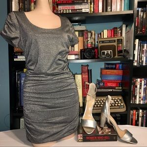 Forever 21 Silver Party Dress Size Medium 📚